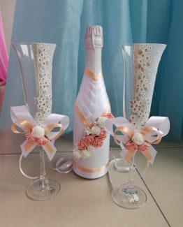 Сватбено шампанско + ритуални чаши